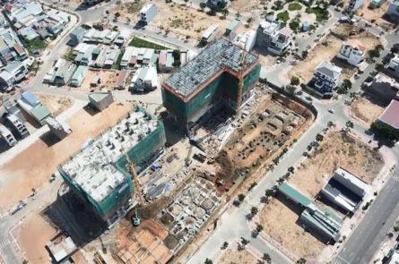 Công trường Hacom Galacity nhìn từ trên cao