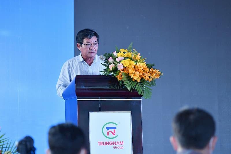 Chủ tịch UBND tỉnh Ninh Thuận, ông Lưu Xuân Vĩnh phát biểu tại lễ động thổ Dự án.
