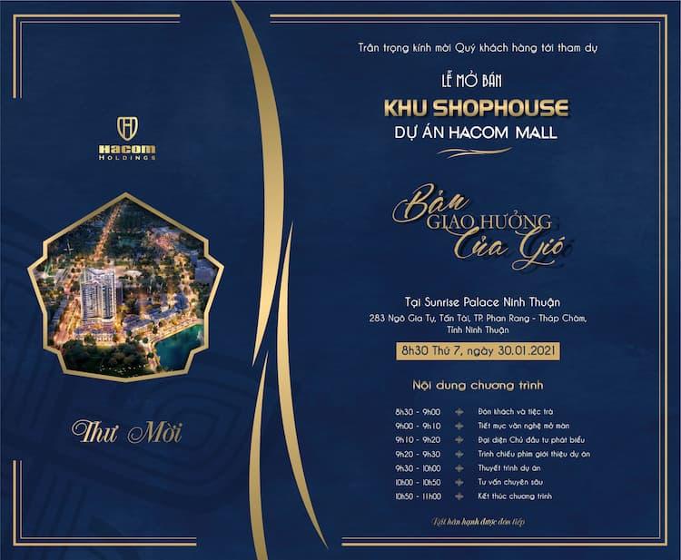 Mở bán đợt 3 Shophouse Hacom Mall tại Ninh Thuận