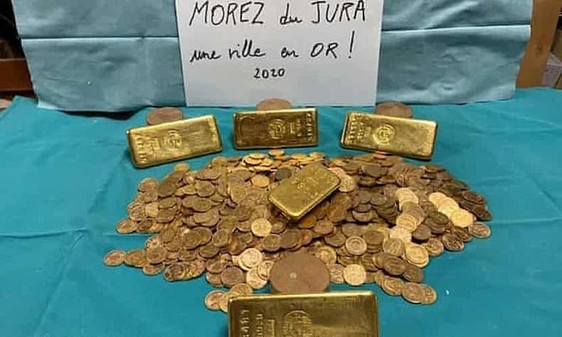 Ngôi làng miền núi Pháp tìm thấy hủ vàng